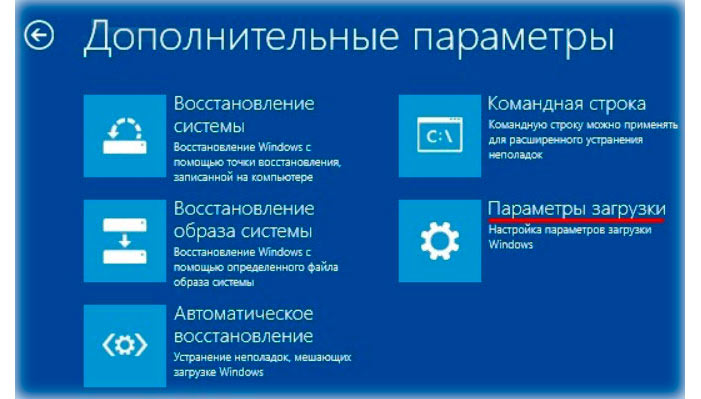 Windows 8 Параметры загрузки